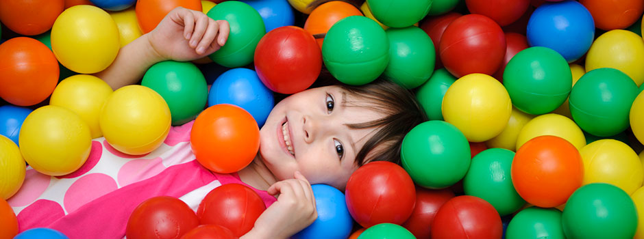 Sensational Kids Therapy, Occupational Therapy in Washington DC, Child in ball pit